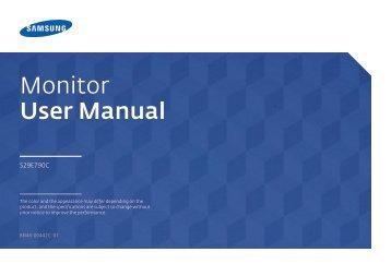"Samsung 29"" Ultra-wide Curved Screen Monitor - LS29E790CNS/ZA - User Manual (ENGLISH)"