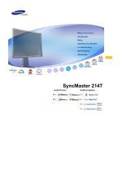 Samsung 214T - Silver - LS21BRBAS/XAA - User Manual (ENGLISH)