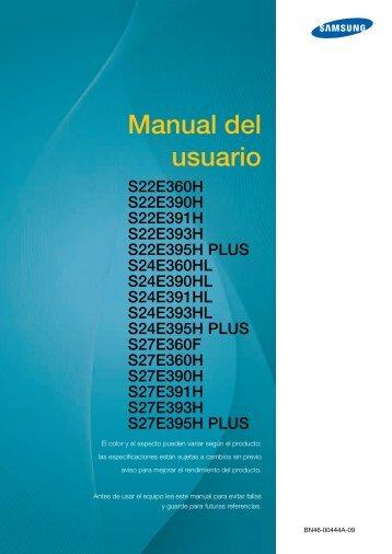 "Samsung 23.6"" LED Monitor w Ultra-slim Bezel - LS24E360HL/ZA - User Manual ver.  (SPANISH,3.96 MB)"
