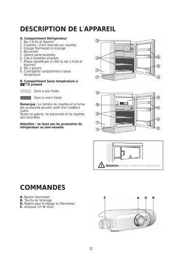 KitchenAid URI 1441/A+ - Refrigerator - URI 1441/A+ - Refrigerator FR (855043201000) Istruzioni per l'Uso