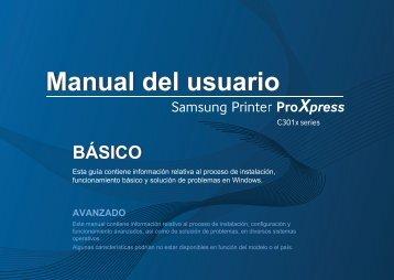 Samsung Samsung Multifunction Printer ProXpress C3010DW - SL-C3010DW/XAA - User Manual ver. 1.0 (SPANISH,17.17 MB)