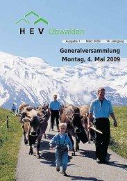 Generalversammlung Montag, 4. Mai 2009 - HEV-OW