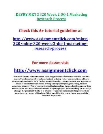 marketing research essay