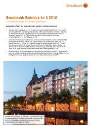 Swedbank Boindex kv 3 2016