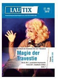Lautix – Das Veranstaltungsmagazin der LAUSITZER RUNDSCHAU – 27.10. bis 09.11.2016