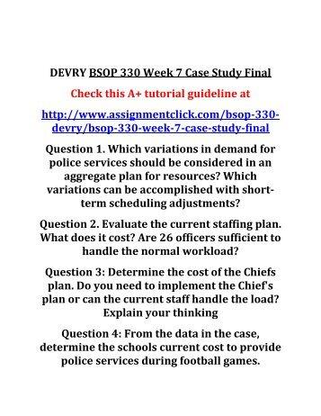 Week 7 textbook case study