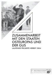 ZUSAMMENARBEIT MIT DEN STAATEN ... - Deza - admin.ch