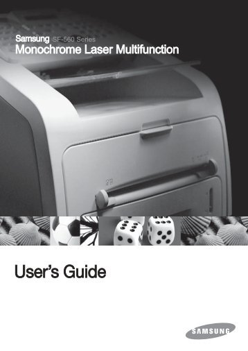 Samsung SF-565PR - SF-565PR/XAA - User Manual ver. 3.00 (ENGLISH,9.16 MB)