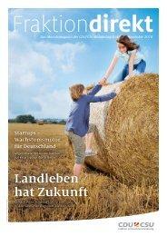 Fraktion direkt - Das Magazin | Ausgabe 11/2016