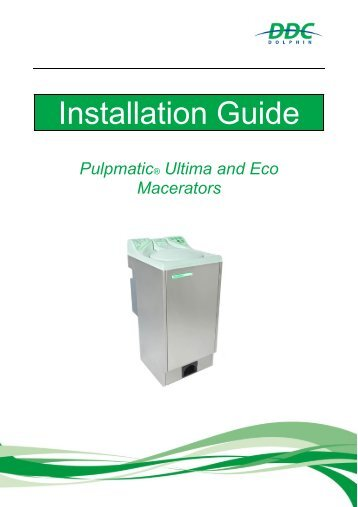 Installation Guide Pulpmatic Ultima & Eco V3.0
