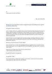 An Interessenten, Kunden und Partner Köln, den 30.08 ... - d.velop AG