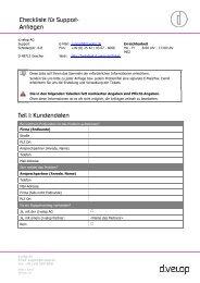 Checkliste für Support- Anfragen - d.velop AG