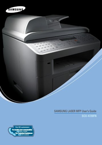 Samsung SCX-4720FN - SCX-4720FN/XAA - User Manual ver. 2.00 (ENGLISH,7.2 MB)