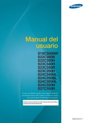 "Samsung Samsung Simple LED 23.6"" Monitor with High Glossy Black Finish - LS24C350HL/ZA - User Manual ver. 1.0 (SPANISH,5.17 MB)"