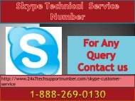 Skype 1-888-269-0130  Tech Support Number