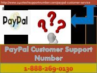 PayPal 1-888-269-0130 Tech Support Number