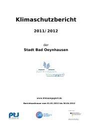 Klimaschutzbericht 2011/2012 - Bad Oeynhausen