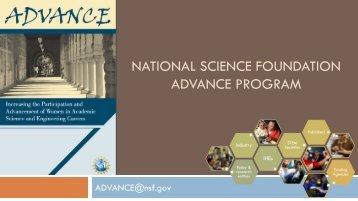 NATIONAL SCIENCE FOUNDATION ADVANCE PROGRAM
