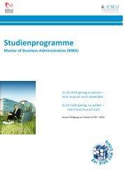 Studienprogramme Master of Business Administration - eu-edu.li