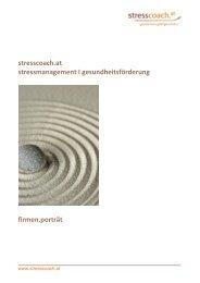 Firmenportrait (pdf) - Stresscoach.at
