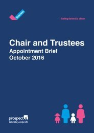 Chair and Trustees