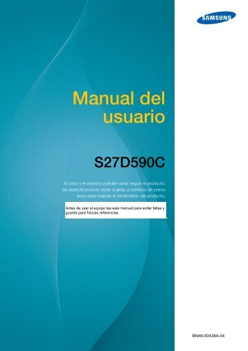 "Samsung 27"" Curved LED Monitor - LS27D590CS/ZA - User Manual ver.  (SPANISH,3.82 MB)"