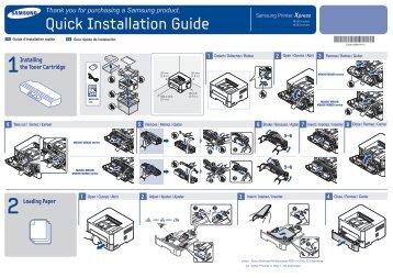 Samsung Samsung Printer Xpress M2625D - SL-M2625D/XAA - Installation Guide ver. 1.01 (ENGLISH,11.75 MB)