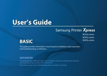Samsung Samsung Printer Xpress M2625D - SL-M2625D/XAA - User Manual (ENGLISH)