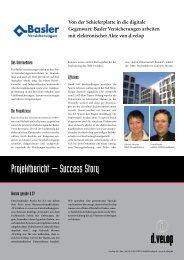 Von der Schieferplatte in die digitale  Gegenwart: Basler - d.velop AG