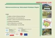 Rahmenvereinbarung Nationalpark Kalkalpen Region