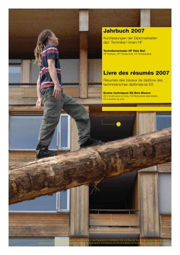 Techniker /-in HF Holzbau - Hochschule für Architektur, Holz und ...