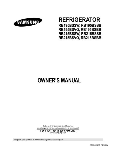 Samsung Rb195bsbb Xaa Manual Guide