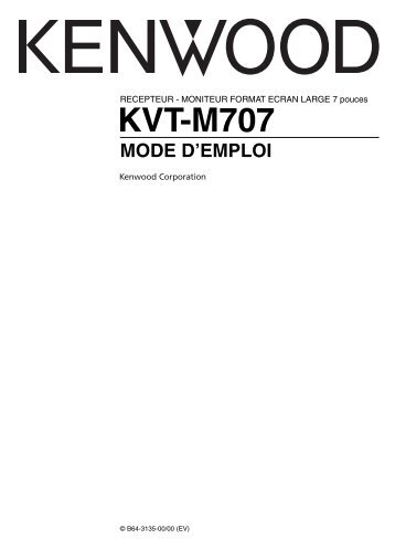 KENWOOD KVT-725DVD-B Installation Manual 60 Pages