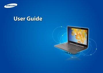 "Samsung ATIV Book 5 (14.0"" HD Touch / Windows 8 / Core™ i5) - NP540U4E-K01US - User Manual (Windows 8) (ENGLISH)"