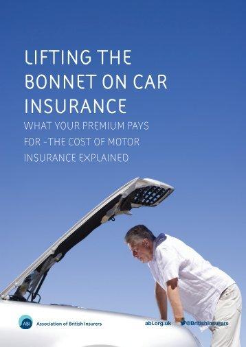 LIFTING THE BONNET ON CAR INSURANCE