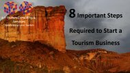 8 Important Steps Required to Start a Tourism Business