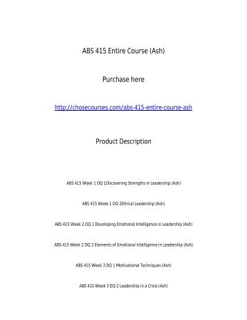 ABS 415 Entire Course _Ash_