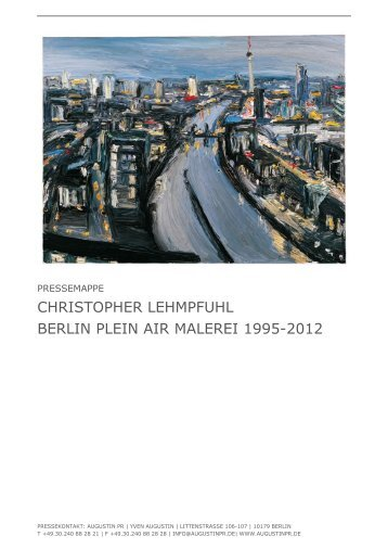 CHRISTOPHER LEHMPFUHL BERLIN PLEIN AIR MALEREI 1995 ...