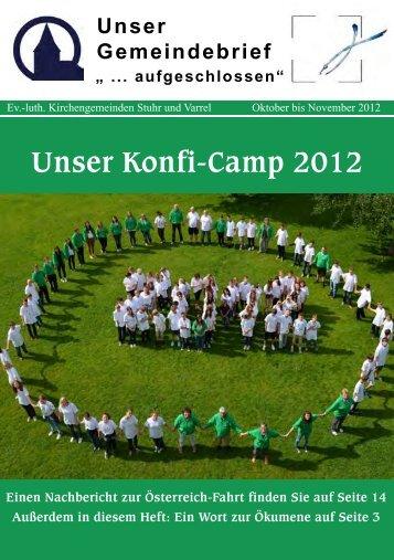 Unser Konfi-Camp 2012 - Ev. - luth. Kirchengemeinde Stuhr