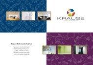 NEU unser Portfolio - Krause Malermeisterbetrieb GmbH