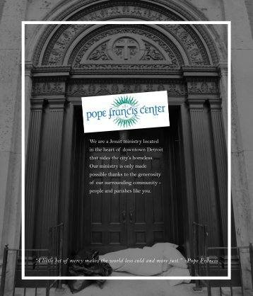 Pope Francis Center Service Opportunities