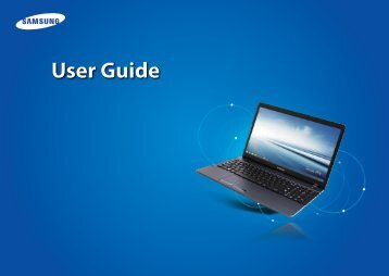 "Samsung ATIV Book 2 (15.6"" HD / Pentium® Processor) - NP270E5G-K01US - User Manual (Windows8.1) (ENGLISH)"