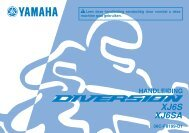 Yamaha XJ6-S - 2010 - Manuale d'Istruzioni Nederlands
