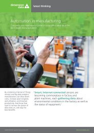 Automation in manufacturing