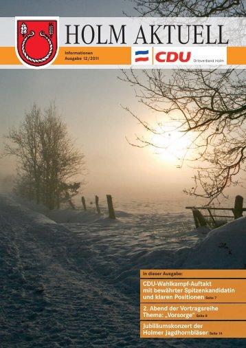 CDU-Wahlkampf-Auftakt mit bewährter ... - CDU Holm