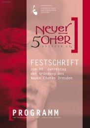 PROGRAMM - Neuer Chor Dresden eV