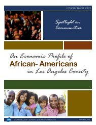 An Economic Profile of African- Americans in Los Angeles County