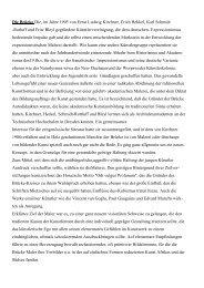 Die Brücke Die, im Jahre 1905 von Ernst Ludwig Kirchner, Erich ...