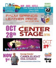 Oct 26 to nov 1, 2016! THIS WEEK! The official guide to Gay Palm Springs for 22 years