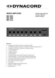mixer amplifier mv 503 mv 506 mv 512 - Niehoff Sound & Light